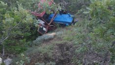 Ormanda traktör devrildi: 1 ölü, 3 yaralı