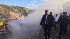 Köyde yangın çıktı, iki ev kül oldu