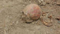 Kafatası ve kemik parçaları bulundu
