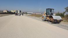 Erzurum Dede Caddesi'ne soğuk asfalt çalışması