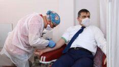 Vali Çiftçi, 29. kez kan bağışladı