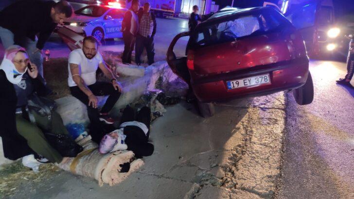 Çorum – Samsun karayolunda kaza: 4 yaralı