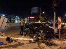 Hastane kavşağında kaza: 1 yaralı