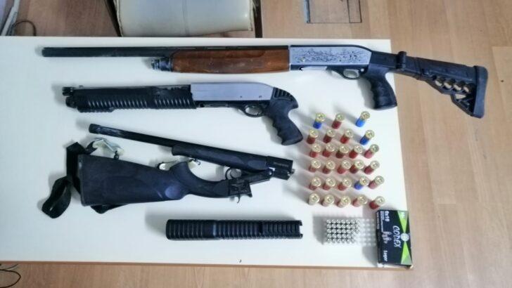 Silahlı saldırıda kullanılan pompalı tüfekler ele geçirildi