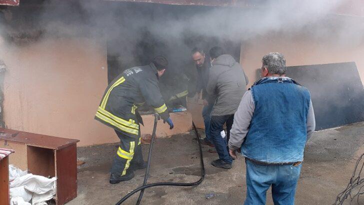 Yangına müdahale eden vatandaş ayağından yaralandı