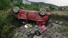 Otomobil takla attı: 2 ölü, 8 yaralı