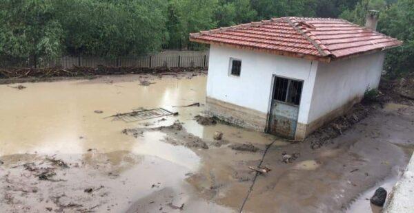 Boğazkale'yi yağış vurdu, araziler su altında kaldı