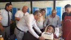 Hidrosefali hastası Berkay'a sürpriz doğum günü kutlaması