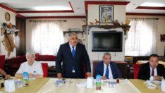 Esnaf temsilcileri ÇESOB'ta bayramlaştı