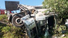 Kargı yolunda kaza: 1 ölü, 1 yaralı