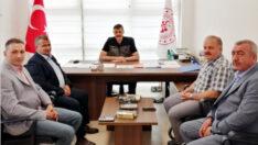 Çorumlu esnaf temsilcilerinden Türkeli'ye geçmiş olsun ziyareti